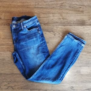 Silver Avery Slim Distressed Mid-Rise Jeans 31*31